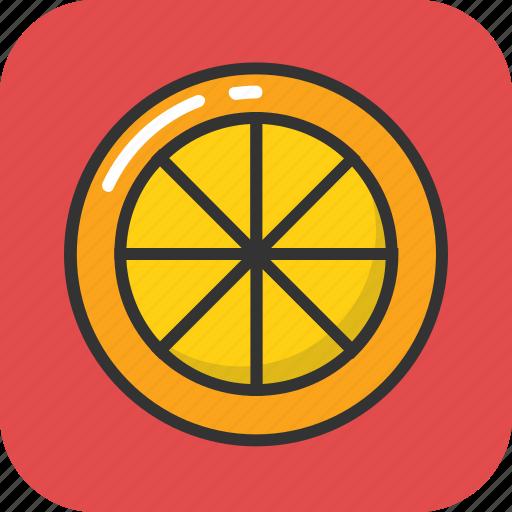 citrus, food, fruit, lemon slice, orange slice icon