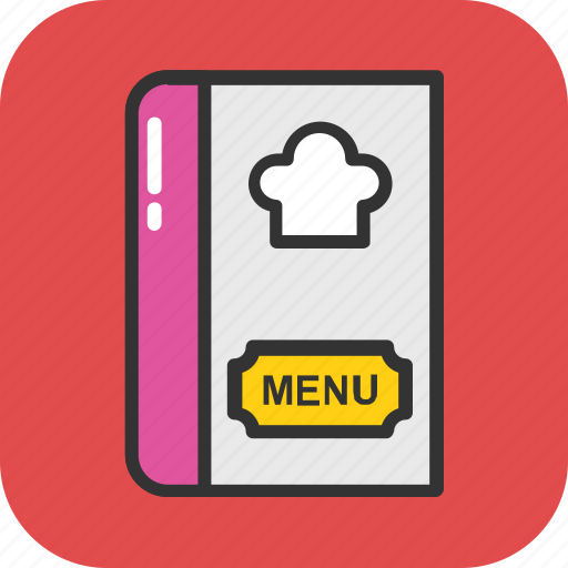 cuisine, menu, menu book, menu card, restaurant icon