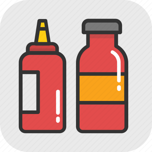 catsup, ketchup, ketchup bottle, sauce, tomato ketchup icon