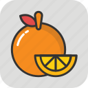 diet, food, fruit, healthy food, orange icon