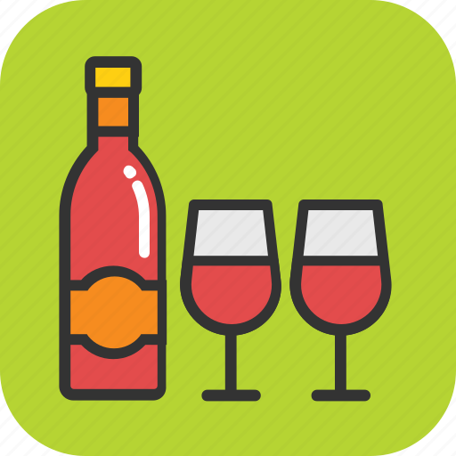Alcohol, beer bottle, drink, wine, wine glass icon - Download on Iconfinder