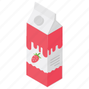 baby milk, flavoured milk, strawberry milk, strawberry shake, tetra pack icon