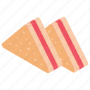 bread, grilled sandwiches, panini, sandwich, snacks, toast icon