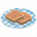 nutella bread, nutella toast, sandwich spread, toast bread, toast milk icon