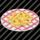 chinese cuisine, noodles, pasta, spaghetti, tortellini icon