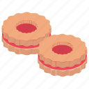 cookies, jam cookies, sandwich cookies, snack food, sweet food icon