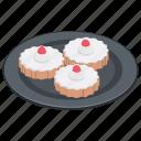 bakery food, cupcakes, dessert, mini cakes, small cakes icon