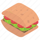 club sandwich, panini, sandwich, snack food, tuna sandwich icon