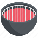 cooking pan, grill pan, grill plate, grilled food, kitchen utensil icon