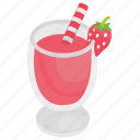 cocktail, fruit juice, juice, refreshing beverage, strawberry juice icon