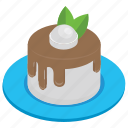 cake, chocolate cake, cream cake, dessert, sweet food icon