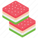 macaron, snack, sweet dessert, sweet food, watermelon candy icon