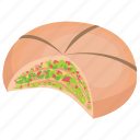 baked bread, bakery food, food, italian bread, oregano bread icon