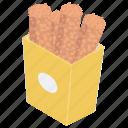 fast food, fried rolls, fried snacks, snack food, takeaway food icon