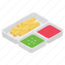 french fries, fried food, fries, potato chips, snack food icon