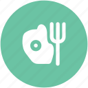 breakfast, egg and fork, egg omelette, fork, scrambled egg icon