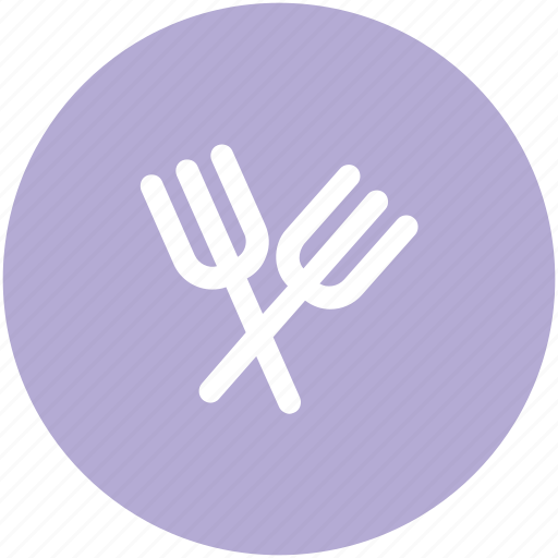 cutlery, flatware, forks, restaurant, two forks icon