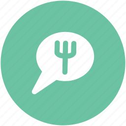 bubble, bubble fork, comments, communication, hotel chat, message, speech, talk icon