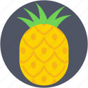 ananas, ananas comosus, organic, pineapple, tropical icon