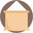 flour bag, flour pack, flour sack, salt sack, sugar sack icon