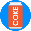 canned drink, cola, cola can, soda tin, tin pack