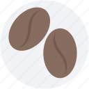 cappuccino, coffee, coffee beans, coffee grains, coffee seeds icon
