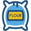 bread flour, cake flour, flour bag, flour pack, flour sack icon