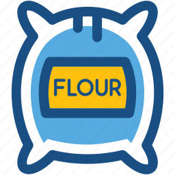 bread flour, cake flour, flour bag, flour pack, flour sack icon