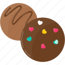chocolate, dessert, food, love, sweet, valentine icon