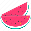 food, fruit, healthy, sweet, vegetable, watermelon icon
