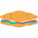 bread, food, healthy, lunch, meal, restaurant, sandwich icon