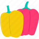 cooking, food, healthy, paprika, pepper, restaurant, vegetable icon