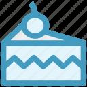 cake, cake piece, cake slice, cherry, food, slice icon