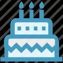 birthday cake, cake, celebration, food, wedding cake icon