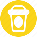 coffee, cup, glass, juice, paper, shake