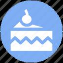 cake, cake piece, cake slice, cherry, food, slice