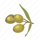 food, olives, plant, vegetarian, green, healthy icon