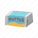 breakfast, butter, cooking, fat, food, milk, package icon
