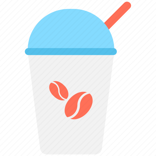 coffee, coffee cup, cold coffee, disposable cup, paper cup icon