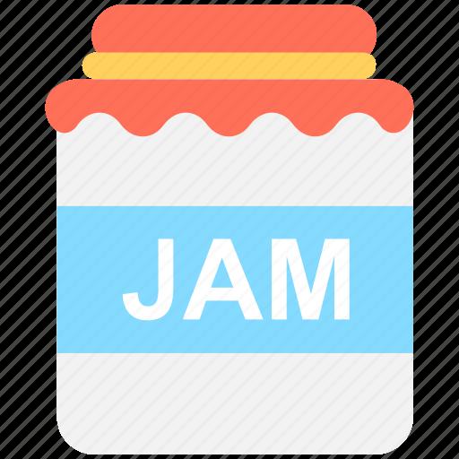 bottle, food bottle, jam container, jam jar, jar icon