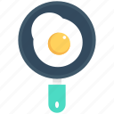 breakfast, dairy food, egg, fried egg, frying pan icon