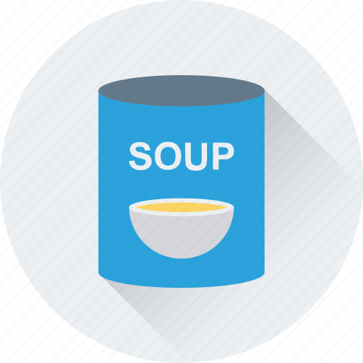 canned soup, food, healthy, soup, supermarket icon