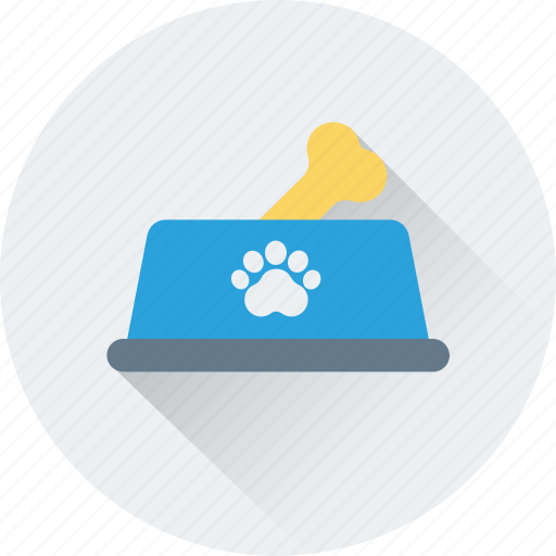 bone, bowl, dog food, dog treat, pet food icon