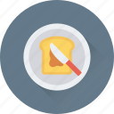 bread, bread slice, breakfast, food, toast icon