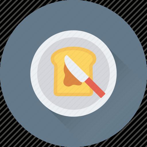 bread, bread slice, breakfast, food, toast icon