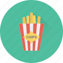 fast food, french fries, fries, junk food, potato icon