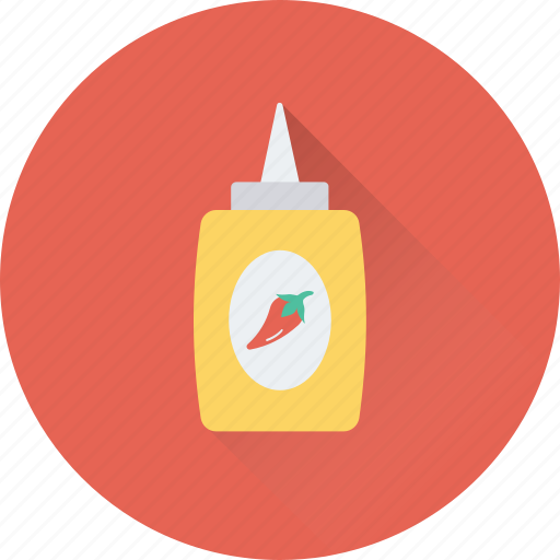 ketchup, ketchup bottle, kitchen, sauce, squeeze bottle icon