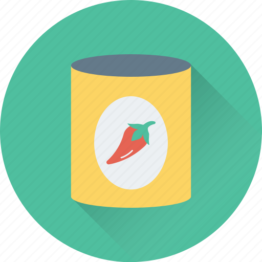 canned, chillies, red chilly, spicy, tin icon