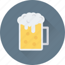 alcohol, beer mug, beer stein, chilled beer, drink icon