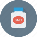 grocery, ingredient, kitchen, salt, salt jar icon